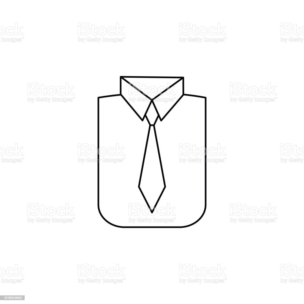 Shirt and tie icon vector art illustration