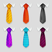 Shirt and tie realistic icons set bacground 3d design vector