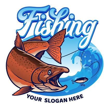 shirt design fishing the chinook salmon