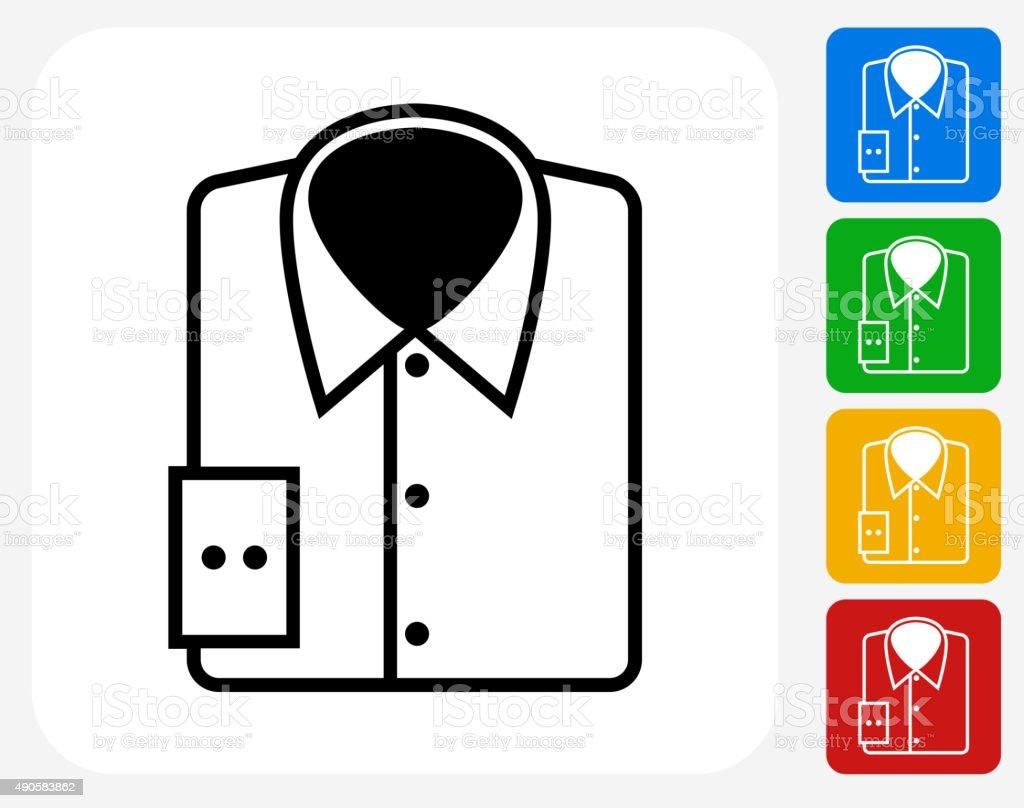 Shirt Icon Flat Graphic Design vector art illustration