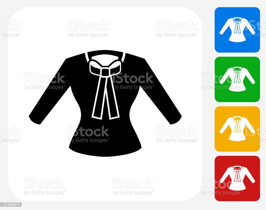 Camisa de iconos planos de diseño gráfico - ilustración de arte vectorial