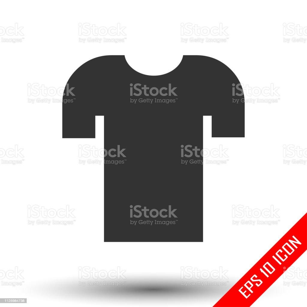 Shirt icon. Flat icon of shirt. Shirt EPS. Vector illustration. vector art illustration
