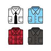 Shirt icon set