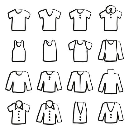Shirt Icons Freehand