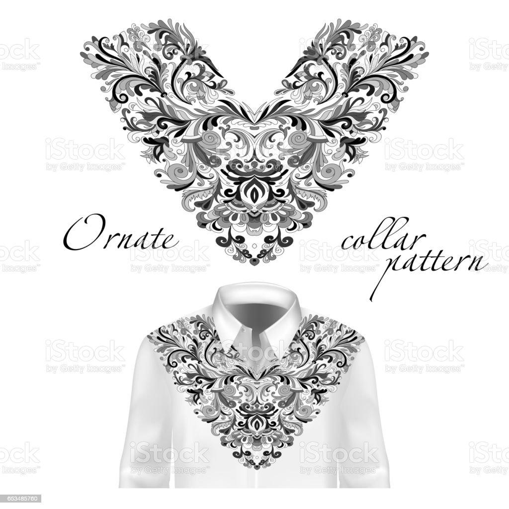 Ilustración de Camiseta Chaqueta Y Camiseta Collar Patrón Adorno ...