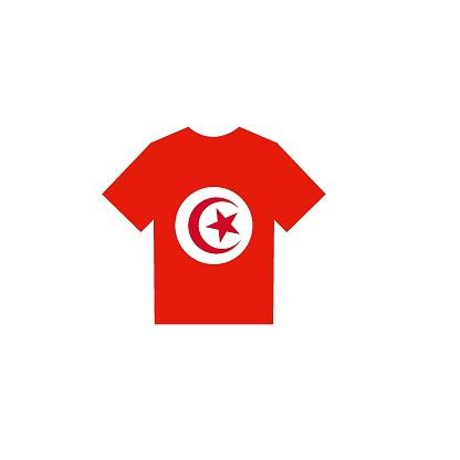Shirt of Tunisia Flat Vector