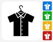 Shirt on Hanger Icon Flat Graphic Design