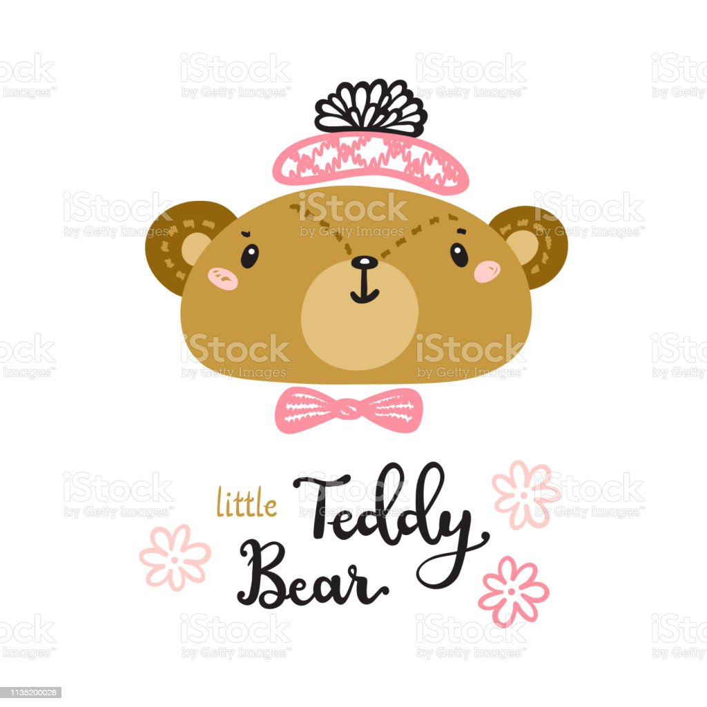 8ed03f8a T Shirt Print Design For Kids With Little Cute Bear And Teddy Bear ...