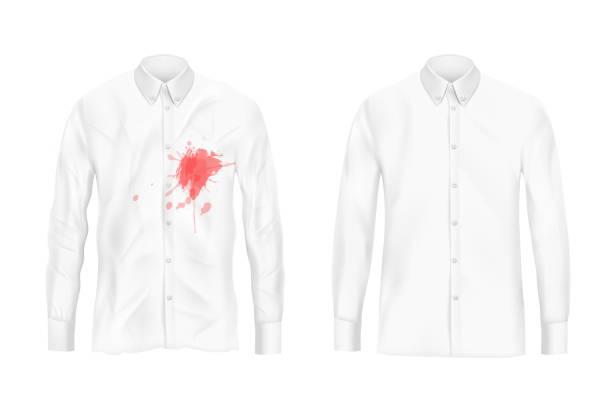 ilustrações de stock, clip art, desenhos animados e ícones de shirt stain remover experiment vector concept - alter do chão