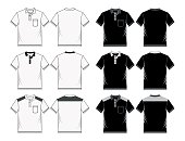 shirt template black white, vector image