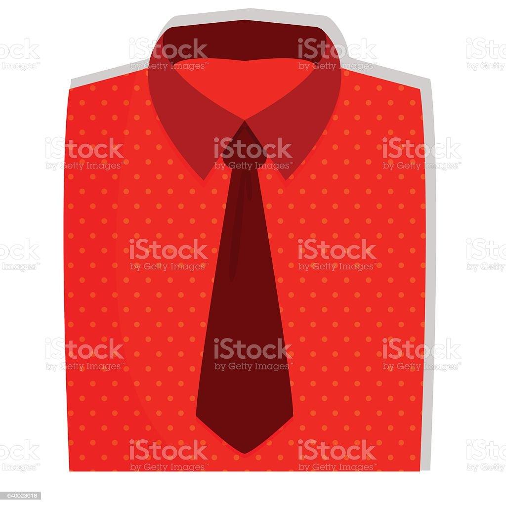royalty free mens formal dress shirt with tie folded clip art rh istockphoto com free shirt and tie clipart shirt and tie clipart