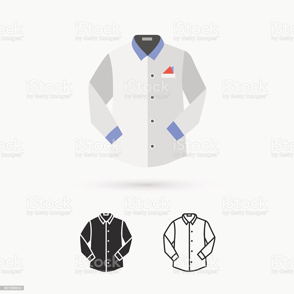 Shirt with long sleeves vector art illustration