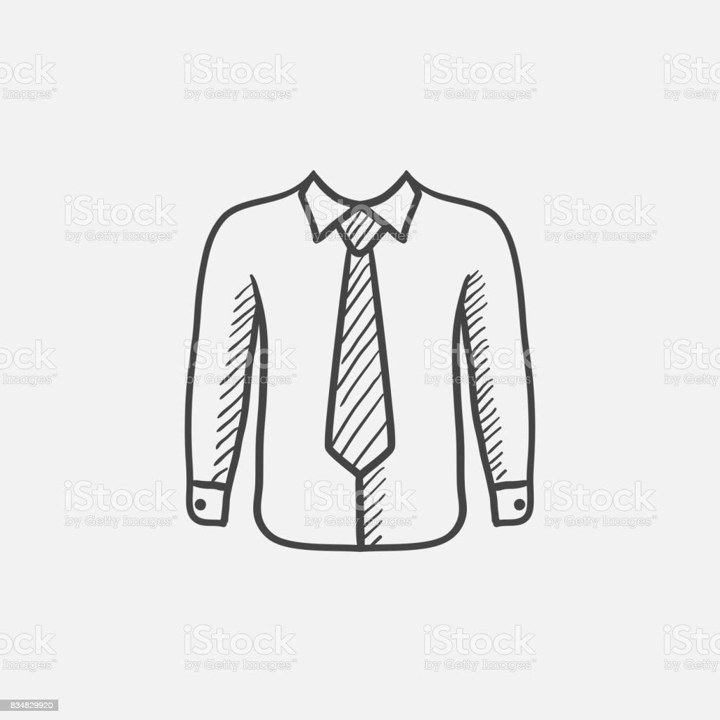 Chemise avec cravate dessin ic ne vecteurs libres de droits et plus d 39 images de a la mode istock - Cravate dessin ...