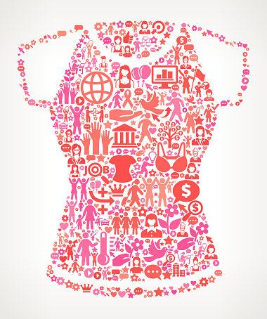 Shirt Women's Rights and female empowerment Icon Pattern