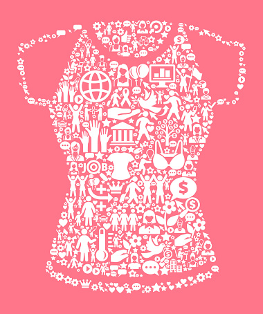 Shirt Women's Rights and Girl Power Icon Pattern