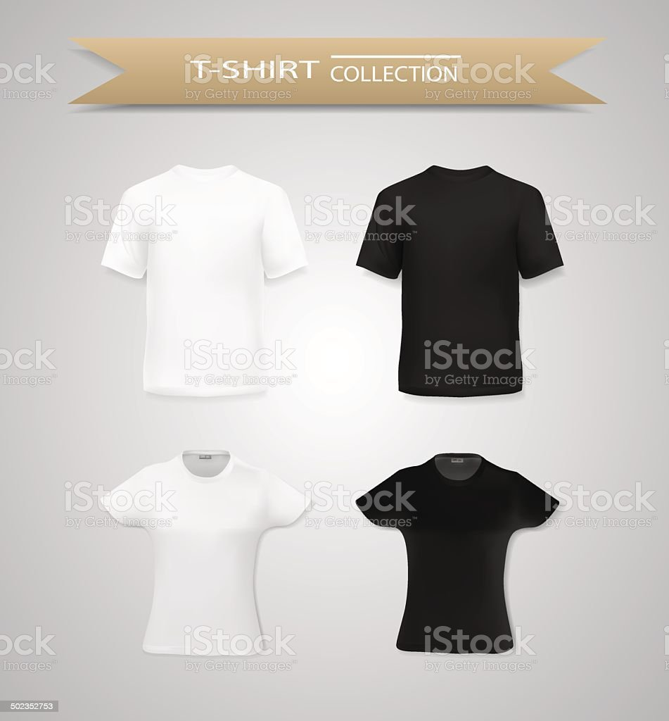 T shirts for men and women vector art illustration