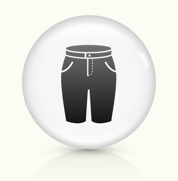 illustrazioni stock, clip art, cartoni animati e icone di tendenza di shirts icon on white round vector button - capri
