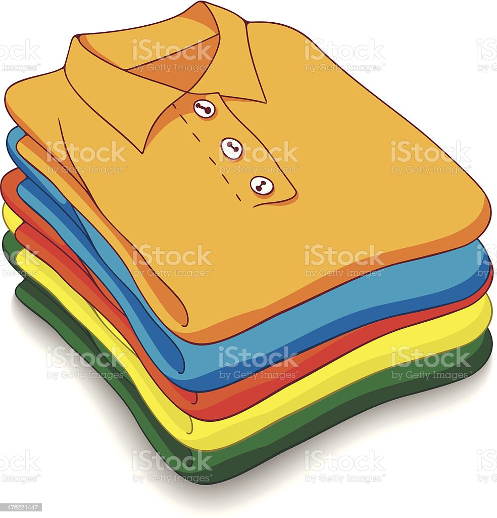 royalty free folded clothes clip art vector images illustrations rh istockphoto com Pile of Folded Clothes Pile of Boys' Clothes