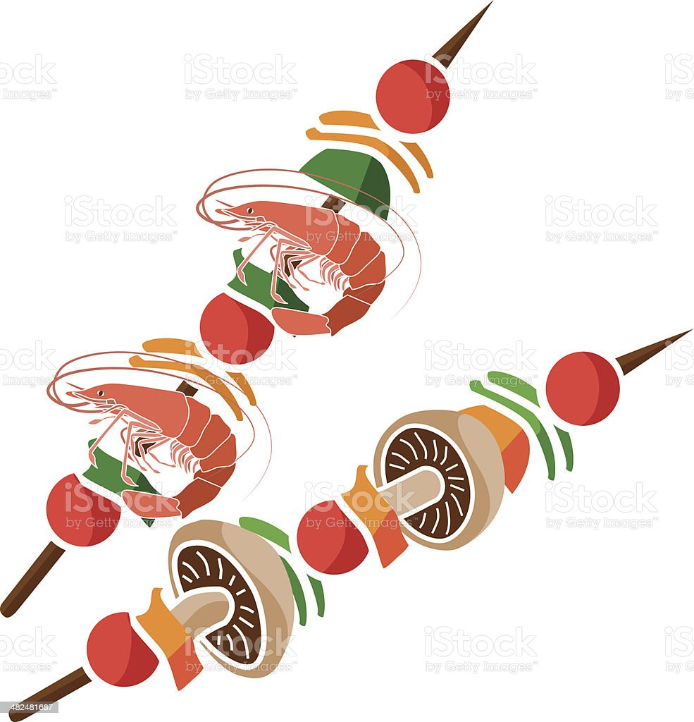 shish kabob stock vector art more images of barbecue 482481687 rh istockphoto com Strawberry Clip Art Cake Clip Art