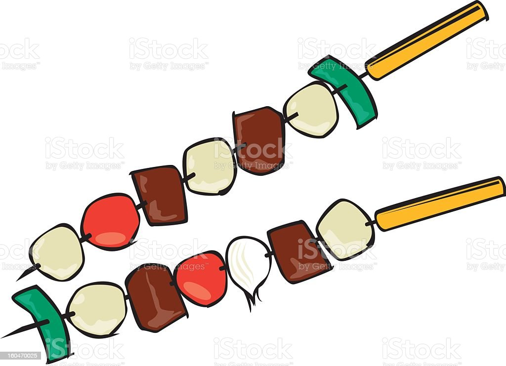 royalty free skewer clip art vector images illustrations istock rh istockphoto com Chicken Kabobs Shish Kabob Drawings