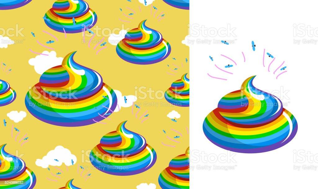 Scheiße Einhornmuster Stuhlgang Regenbogen Farben Kalregenbogen