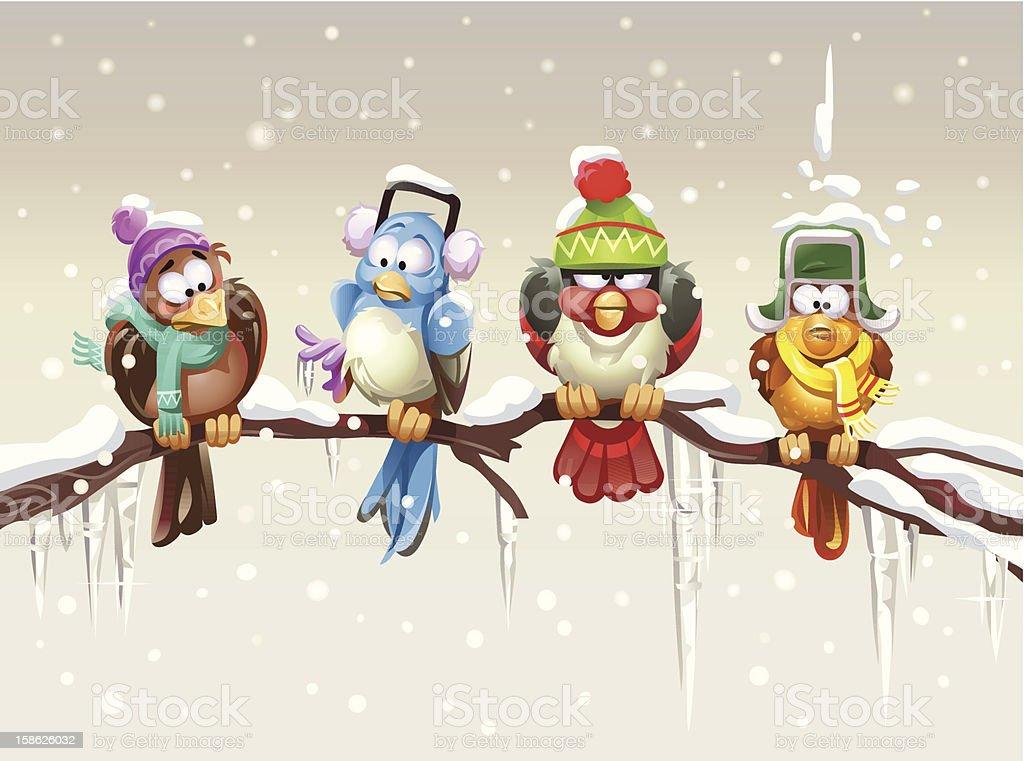 Temblar pájaros - ilustración de arte vectorial