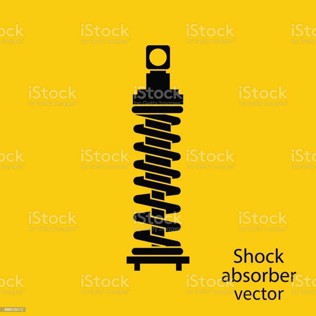 Shock Absorber icon. vector art illustration