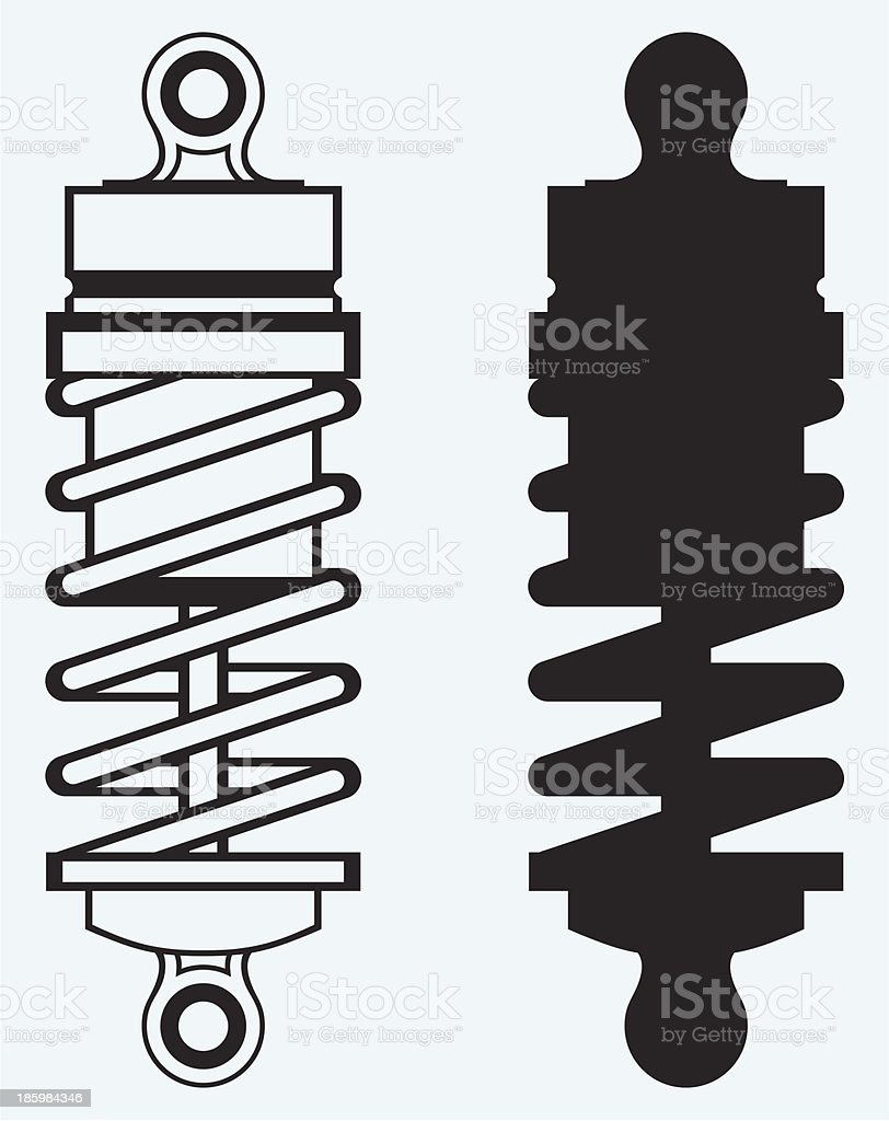 Shock absorber vector art illustration