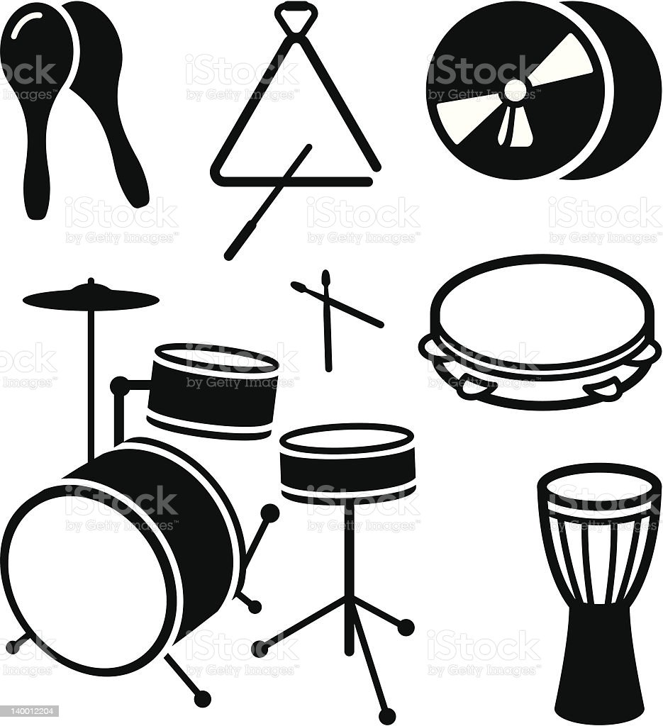 Shock musical instruments royalty-free stock vector art
