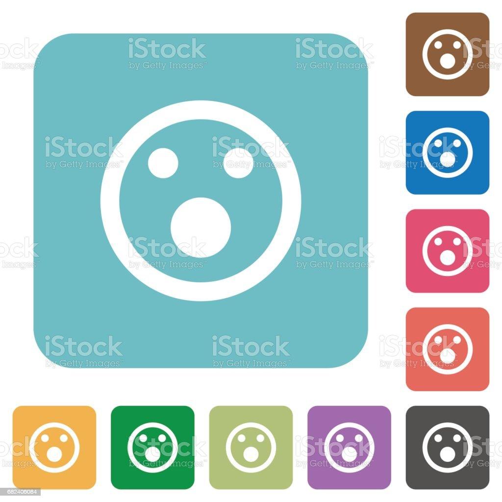 Shocked emoticon flat icons royalty-free shocked emoticon flat icons stock vector art & more images of applying