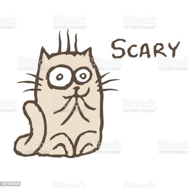 Shocked grey cat tik vector illustration cheerful cartoon pet vector id901886466?b=1&k=6&m=901886466&s=612x612&h=wh27viux3 df77sbwgmwdrjdxgbai8gkp7msaqxopj8=