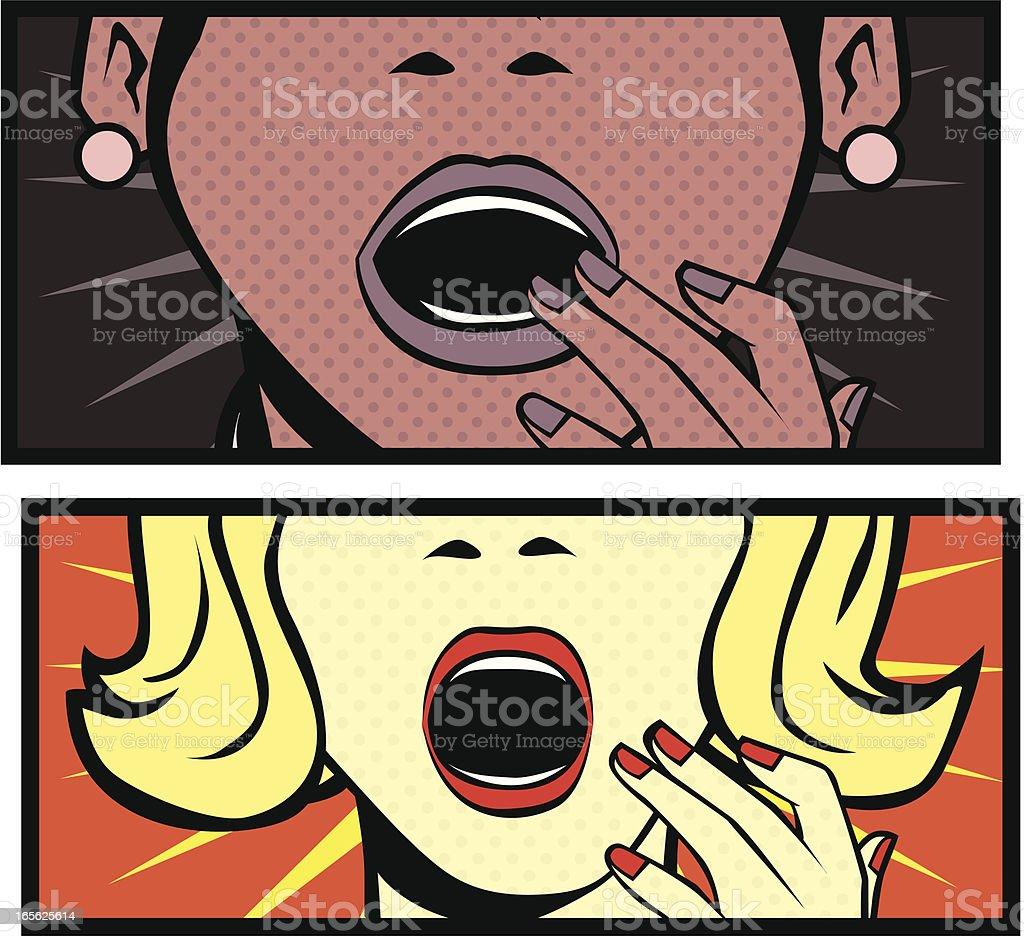 Shocked Ladies royalty-free stock vector art