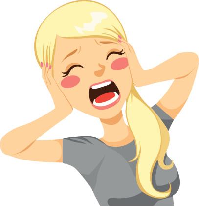 Shocked Woman Screaming