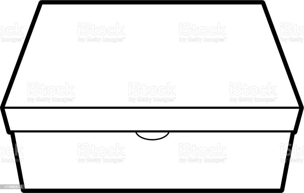Line Art Box Design : Shoe box graphic icon stock vector art more images of