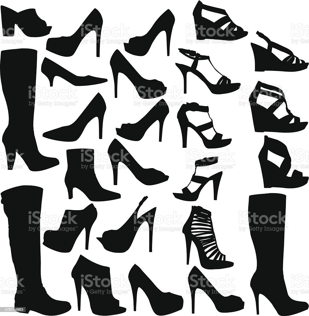 Shoe Collection vector art illustration