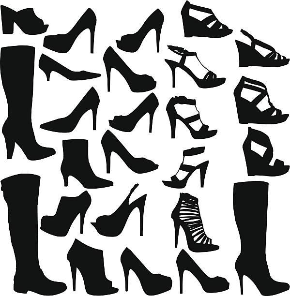 靴のコレクション - 靴のファッション点のイラスト素材/クリップアート素材/マンガ素材/アイコン素材