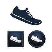 Shoe icon set, isolated vector illustratio