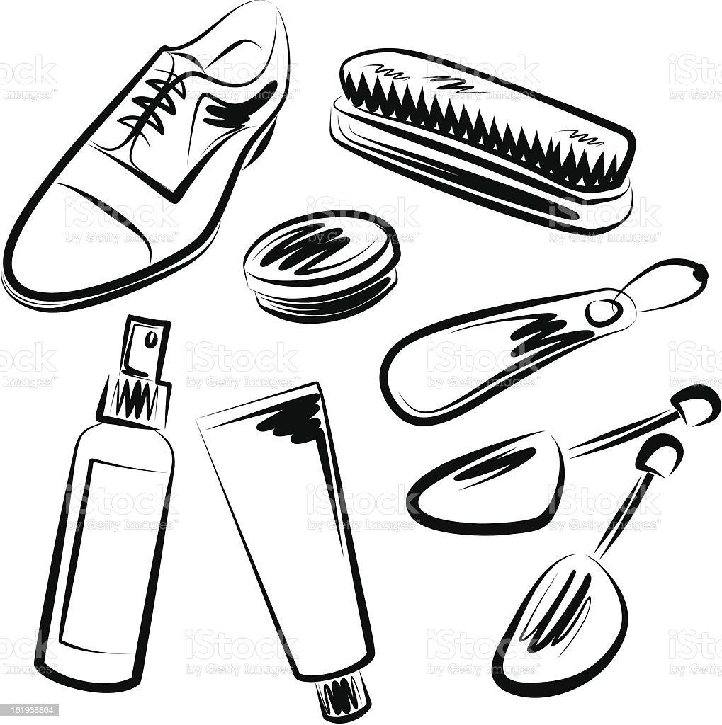 shoe polish set stock vector art  u0026 more images of black