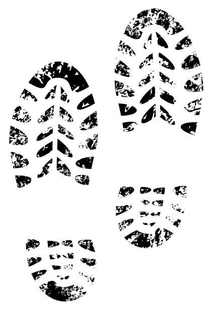 shoe print grunge illustration shoe print grunge illustration vector eps 10 boot stock illustrations
