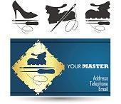Shoe repair business card master