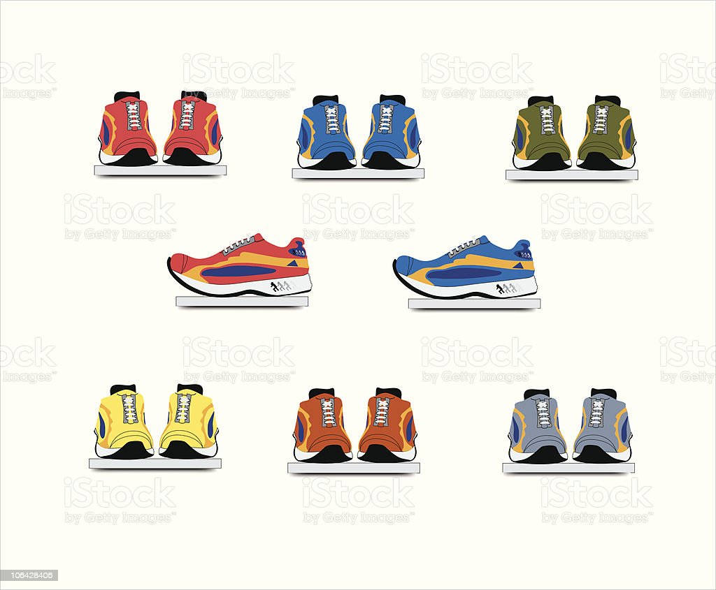 Shoe shop vector art illustration