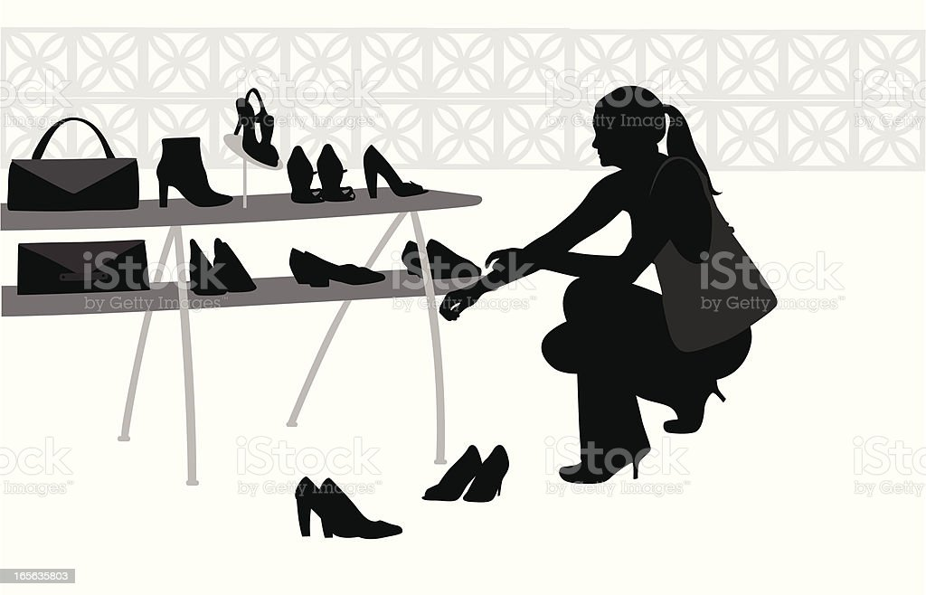 Image result for silhouette of girl in a shoe shop