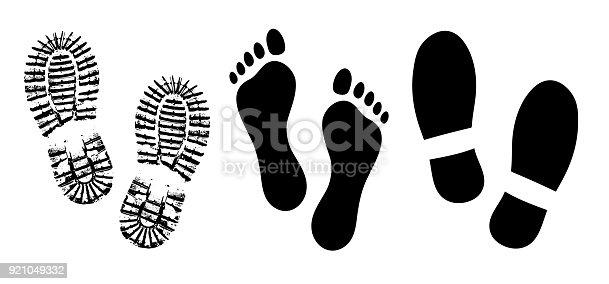 Ilustración de De Suela De Zapato Vector De Silueta De ...