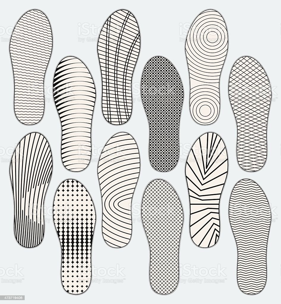 Shoe soles vector art illustration