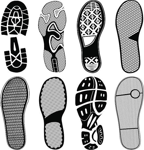 Buty Traces – artystyczna grafika wektorowa