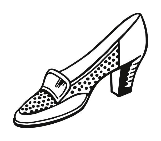 schuh - damenmode stock-grafiken, -clipart, -cartoons und -symbole