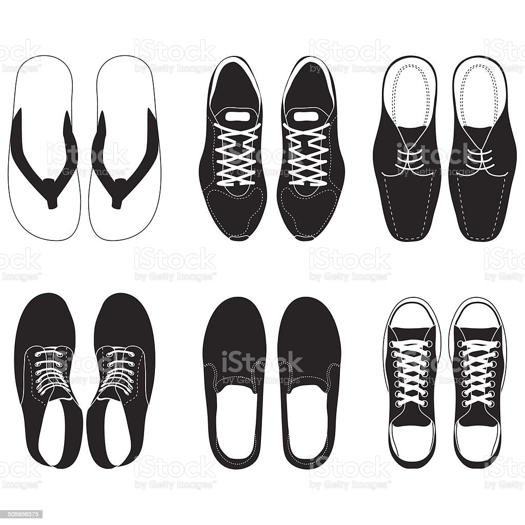 shoe vector set vector art illustration