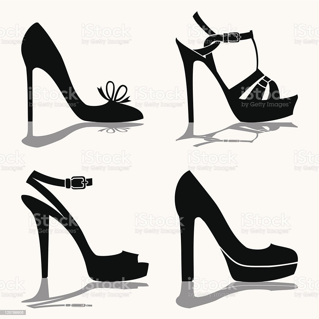 Shoes collection vector art illustration