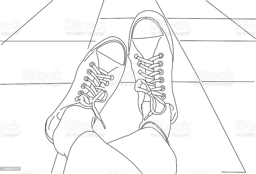 Shoes, Feet.. royalty-free stock vector art