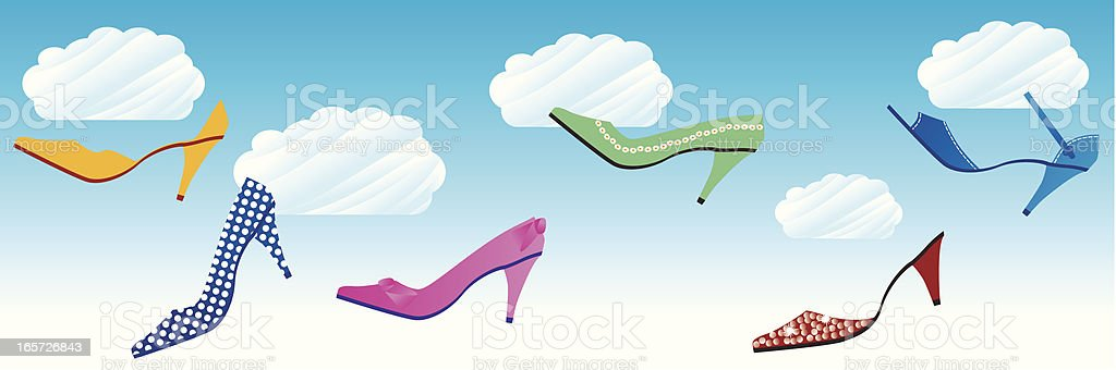 Shoes in clouds royalty-free stock vector art